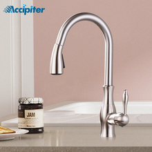 Kitchen sink Faucet Single Handle Chrome Taps Pull Out Kitchen Tap 360 Swivel Water Mixer Tap Single Hole Water Mixer Taps kitchen faucets brass kitchen sink water faucet 360 rotate swivel faucet mixer single holder single hole white mixer tap n22 024