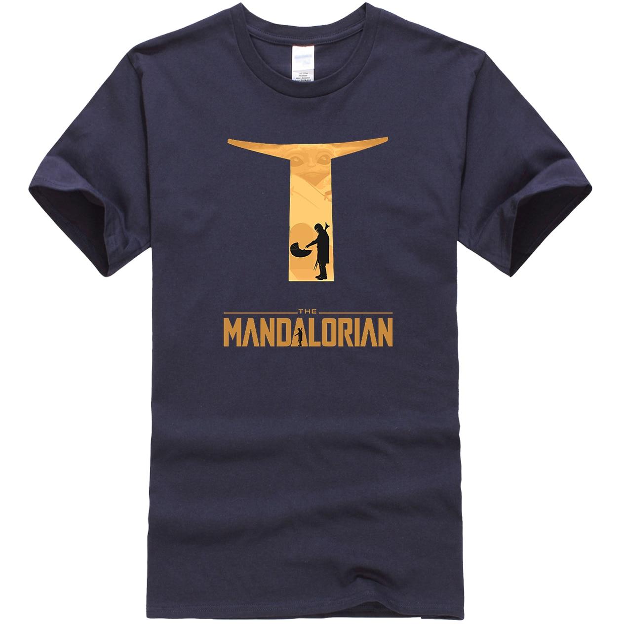 The Mandalorian Hip Hop Men T-Shirts Casual Star Wars Tops New Summer 2020 Cotton Baby Yoda T Shirt High Quality Male T-Shirt
