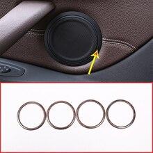 Car door speaker frame trim For BMW F45 F46 F47 F48 X1 X2 pine wood grain midrange tweeter horn lid loudspeaker decoration