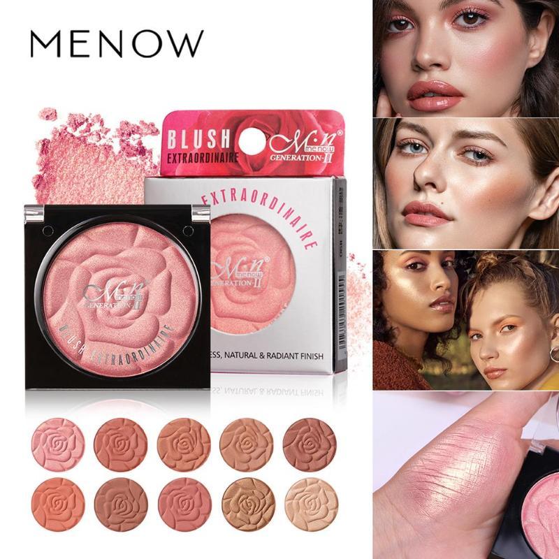 MENOW 10 Color Long Lasting Rouge Brighten Skin Color Blusher Natural Blush Natural Lasting Conceal Matte Pearl Cosmetic