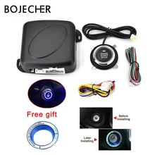 Car Engine Push Start Button RFID Lock Ignition Starter Keyless Entry Start Stop Immobilizer Alarm Systems Driving Security цена
