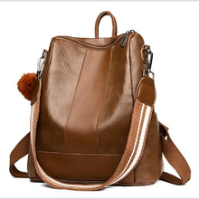 Women Zipper Backpack 2019 New Washed Leather PU Casual College Wind Handle Shou
