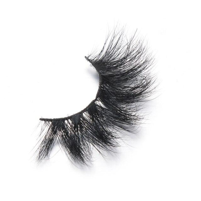 1 Pair 20mm 3D 100% Mink False Eyelashes Luxury Criss-cross Mink Lashes Fake Eyelash Handmade Dramatic Eyelashes Makeup Tools 1