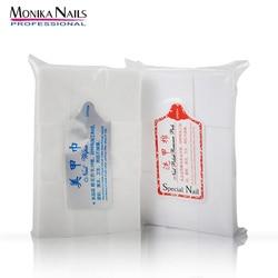 Monika 900pcs/Pack Cleaning Cotton Paper Pad Remover Nail Polish Gel Lint Free Napkins Soak Off Wipes Nail Art Remover Tools