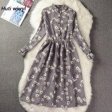 Veludo de alta elasticidade da cintura do vintage vestido outono inverno feminino manga completa floral midi vestido bodycon festa sexy 25 cores