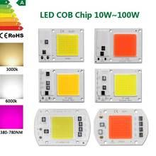 Светодиодный чип cob 10 Вт 20 30 50 smart ic 110 В 220 в холодный