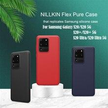 Samsung Galaxy S20 Ultra S20+ Plus 5G durumda Nillkin Flex saf durumda kablosuz şarj yumuşak silikon arka kapak samsung S20