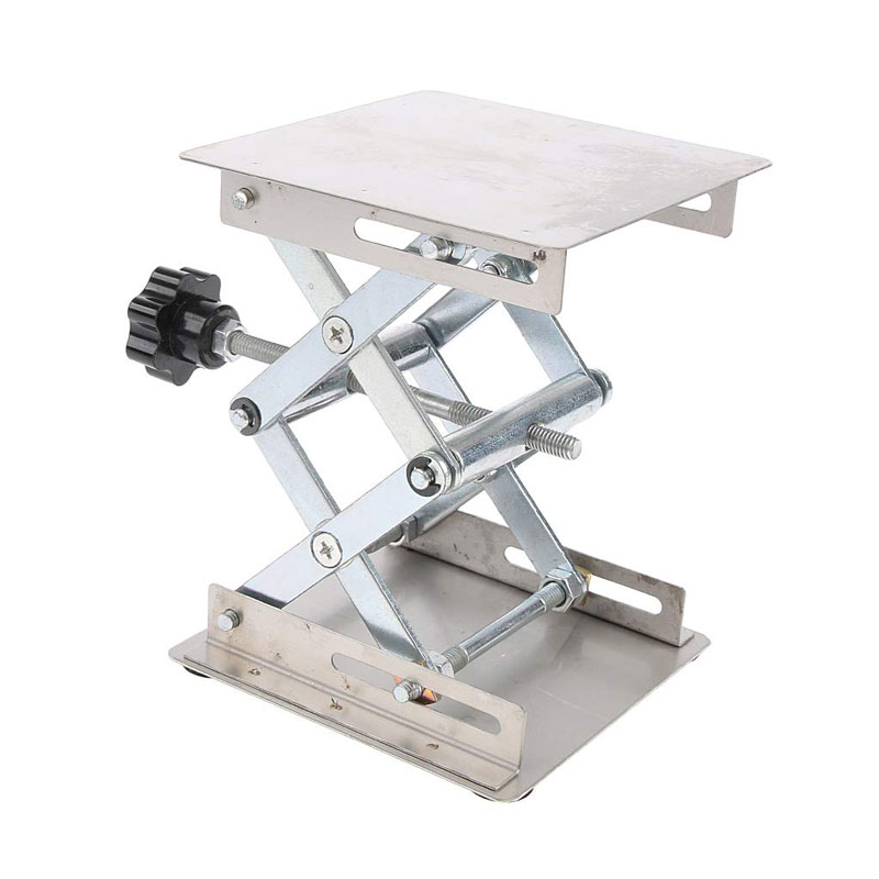 200*200 Mm Stainless Steel Router Lift Table Platform Woodworking Engraving Lab Lifting Stand Rack Carving Lifting Platform