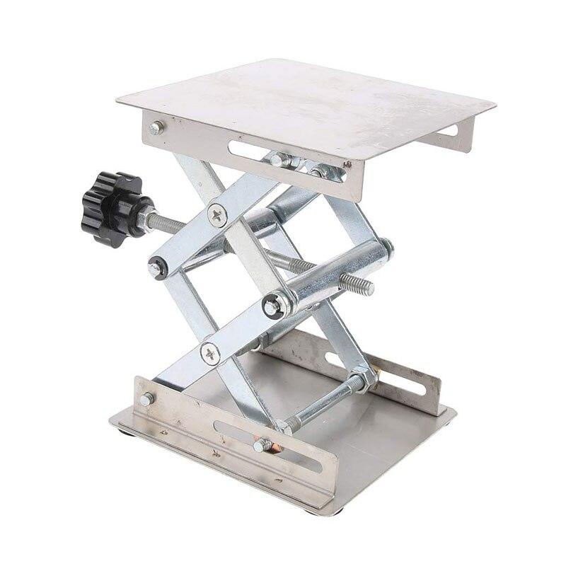 200*200mm acier inoxydable routeur Table élévatrice plate-forme gravure sur bois laboratoire levage support Rack sculpture plate-forme élévatrice