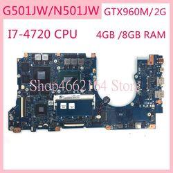 N501JW I7-4720CPU GTX960M/2G материнская плата для ASUS N501JW UX501JW UX501J N501J G501J G501JW материнская плата для ноутбука основная плата Тест ОК