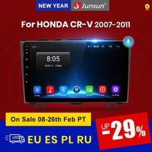 Junsun V1 2G + 32G الروبوت 10.0 4G سيارة راديو مشغل وسائط متعددة نافي GPS 2 الدين لهوندا CRV CR-V 3 2006 2007 2008 2009 2010 2011