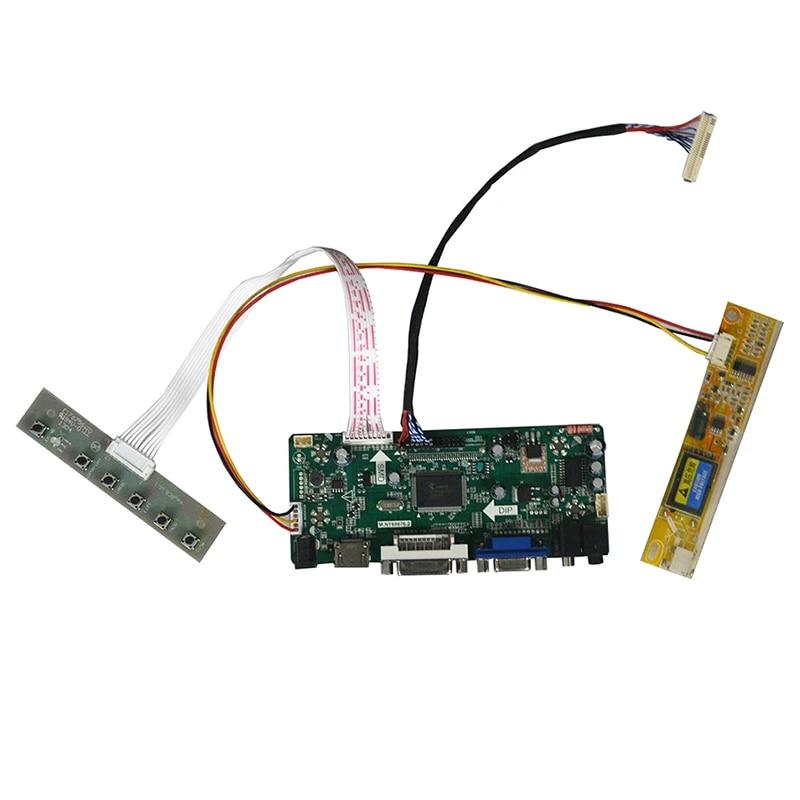 HDMI+DVI+VGA LCD Controller Converter Board Lvds Driver Diy Kit for N154C1-L03