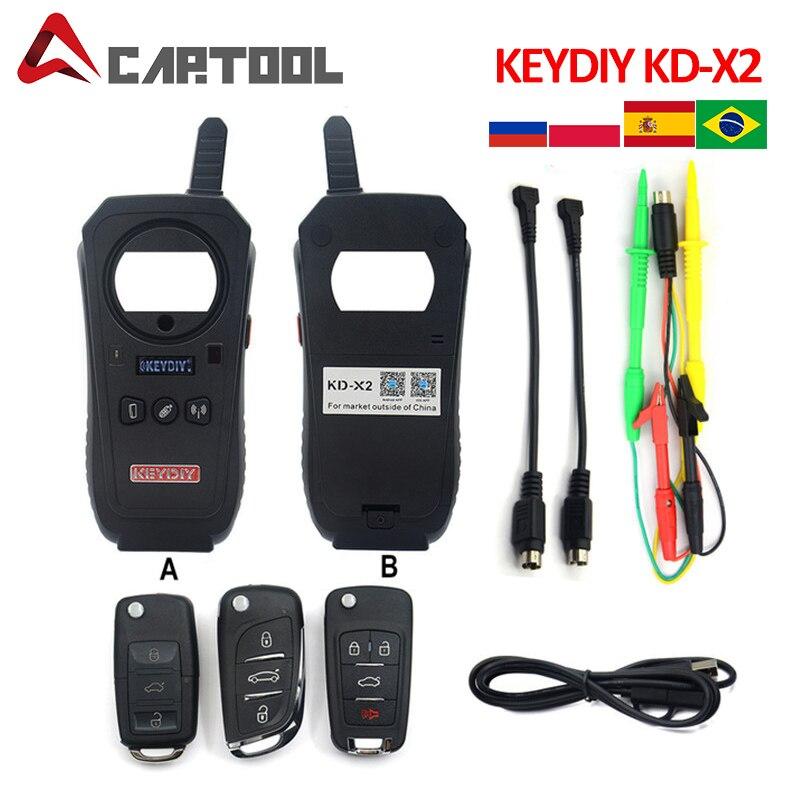 Nenhum token keydiy KD-X2 remote maker unlocker kd x2 gerador-transponder clonagem dispositivo com 96bit 48 transponder função de cópia