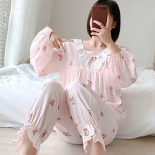 Для беременных женщин и молодых матерей одежда для сна ночная рубашка для кормления Европа и США Весна Лето пижамы для грудного вскармливания Пижама для беременных