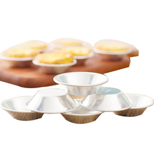 10pcs Egg Tart Mold Cake Aluminium Alloy Baking Tool Cupcake Fruit Flower Shape Reusable Pan