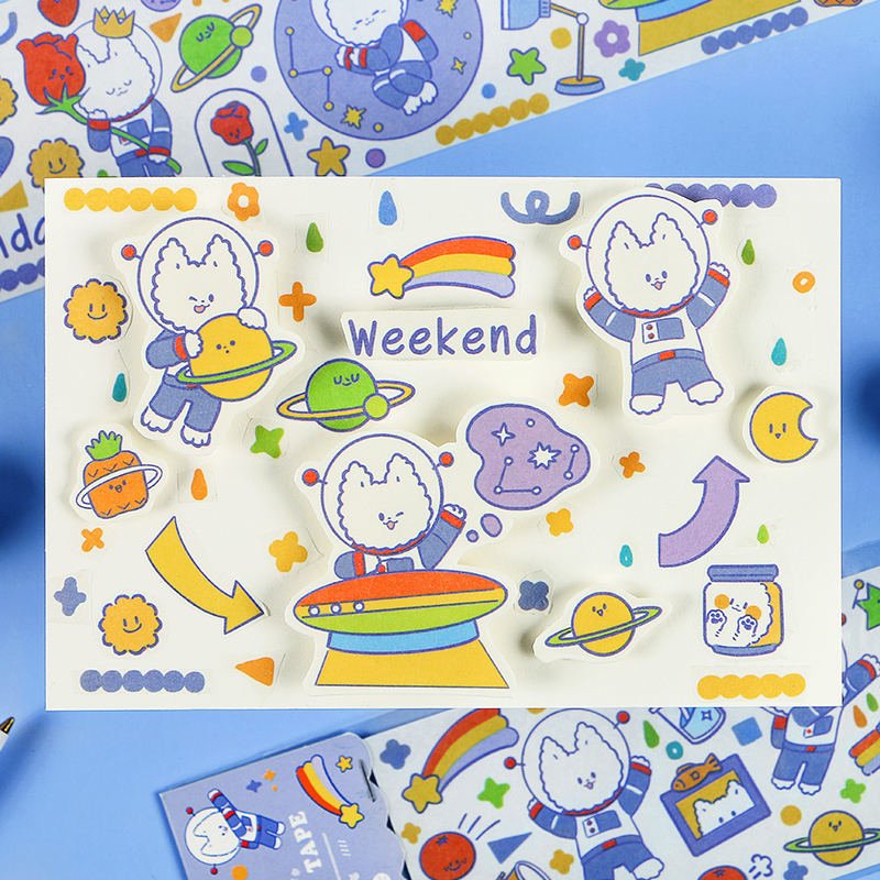 Kawaii Japanese Cartoon Character Decorative Tape Cartoon Washi Tape DIY Scrapbook Tape School Exquisite Stationery Gifts