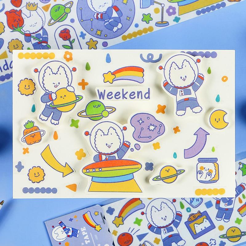 Kawaii Japanese Cartoon Character Decorative Tape Cartoon Washi Tape DIY Scrapbook Tape School Exquisite Stationery Gifts