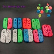 Klar Gehäuse Ersatz Shell Fall Abdeckung & Bunte A B X Y Taste für Nintendo Schalter Controller Joy con