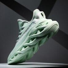 Heidsy marka erkek spor ayakkabı 2020 yeni moda ışık ağırlık hava örgü rahat ayakkabılar bahar bıçak erkek ayakkabısı tasarım Zapatos De Hombre