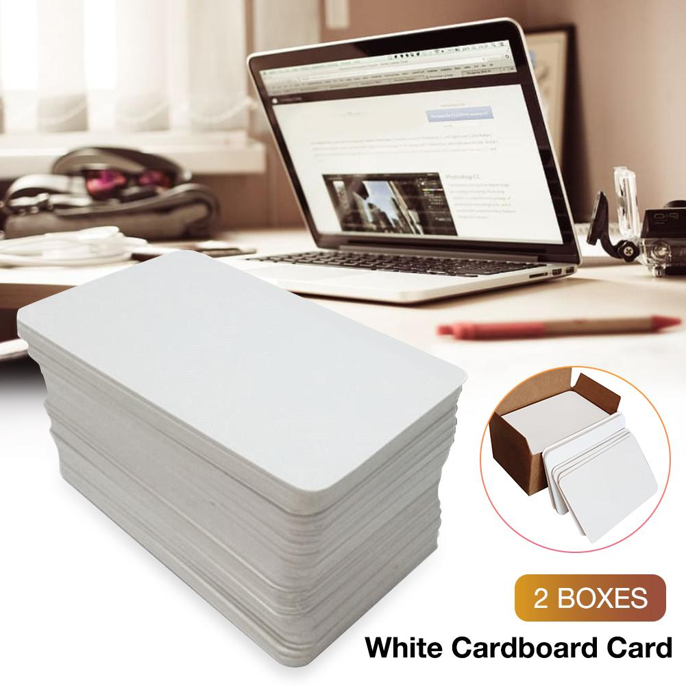 2*box Blank Playing Card Hard Paper Card Paper White Cardboard Card For DIY Board Game Poker Card Games