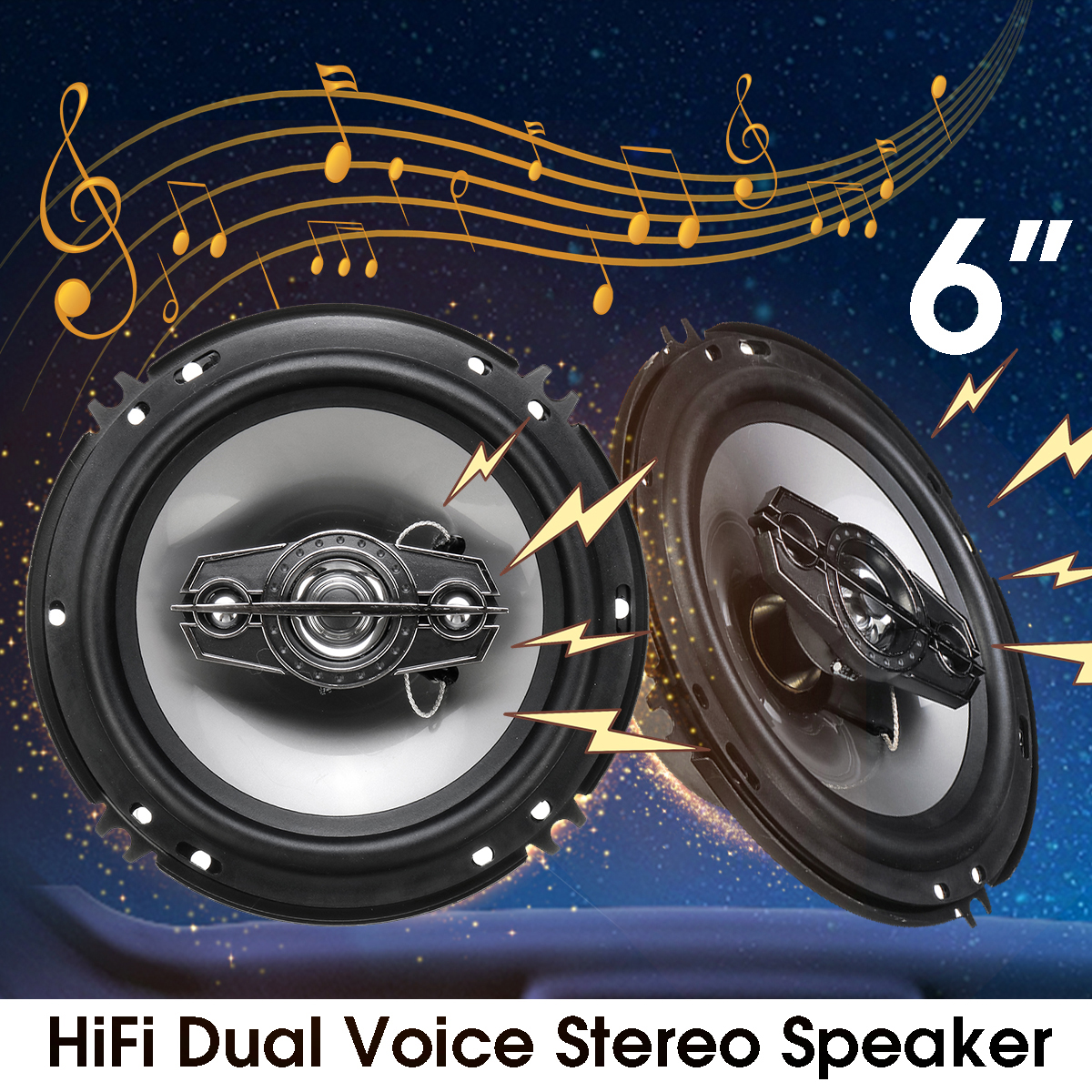 2 предмета 6 дюймов 500 Вт Авто Аудио Динамик 4 способ коаксиальный громкий Динамик универсальный автомобиль авто аудио стерео Hi-Fi громкий Дин...