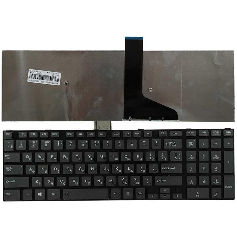 Baru RU Keyboard For Toshiba Satellite L50-A S50-A S55-A L70-A L75-A C70-A C75-A Keyboard Rusia Hitam/Putih
