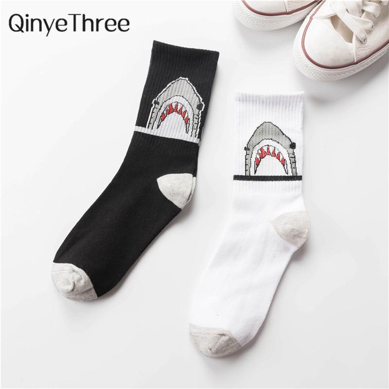 High Quality Harajuku Chaussette Style Socks Men's Cotton Hip Hop Street Dance Sport Skateboard Socks Dropship