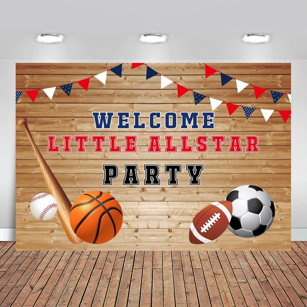 Magnificent All Star Basketball Party Backdrop Court Boy Sport Themed 1St Funny Birthday Cards Online Bapapcheapnameinfo