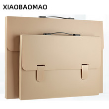 DIY Simple Colorful File Holders Document Boxes Folding File Storage Case Organizer for School Office with handle