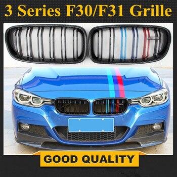 1 זוג שחור מבריק/מאט שחור כליות גריל עבור BMW F30 F31 3 סדרת ABS חומר החלפת רכב סטיילינג 2012 + 328i 330i 335i