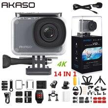 AKASO V50 פרו Native 4K/30fps 20MP WiFi פעולה מצלמה EIS מגע מסך 30m עמיד למים 4k ספורט מצלמה תמיכה חיצוני מיקרו