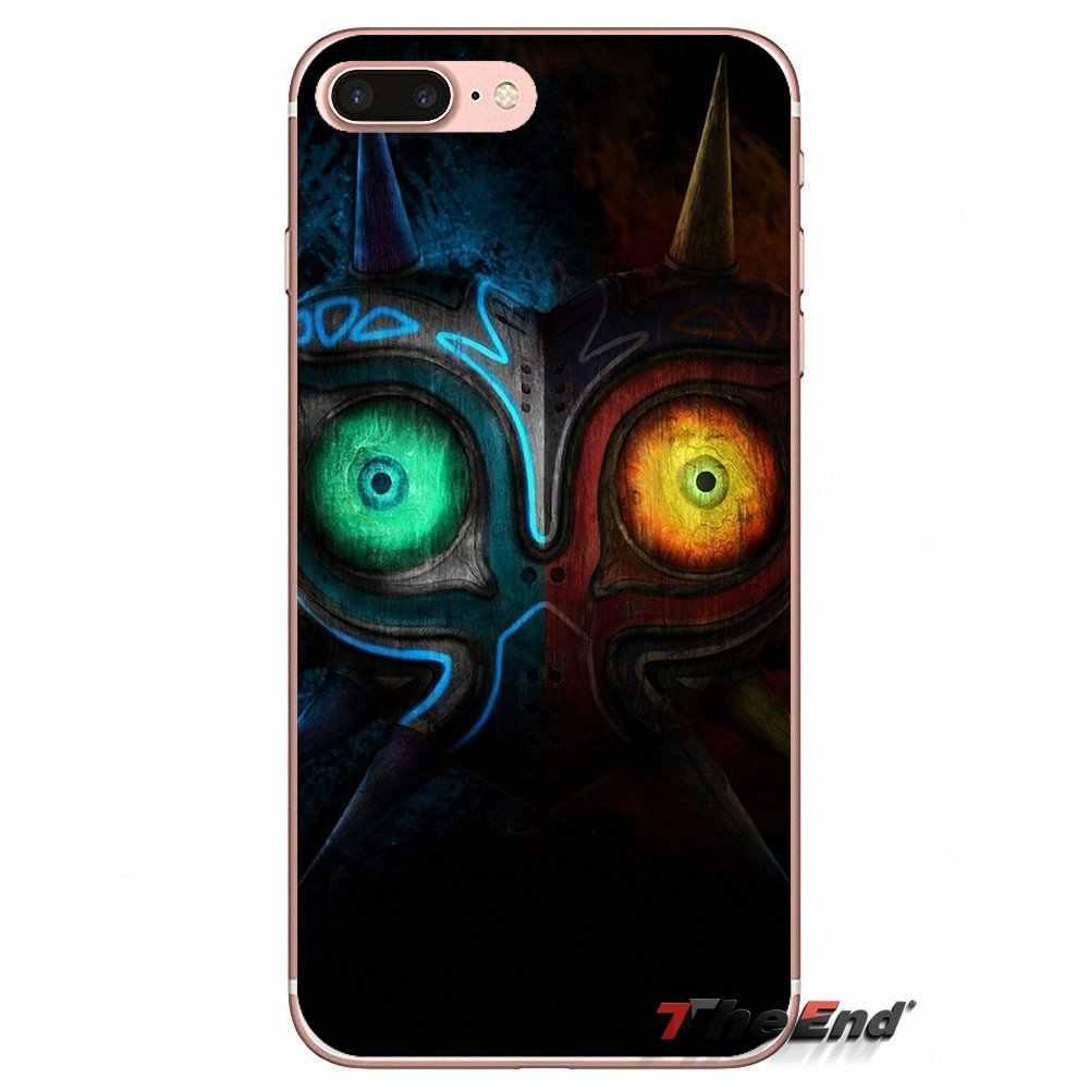 Untuk Huawei P Smart Y6 Naik P8 P9 P10 PLUS NOVA P20 Lite Pro Mini 2017 Majora Masker Legenda zelda Transparan TPU Case Tas