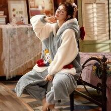 Зимняя Пижама; Одежда для сна женская пижама из кораллового