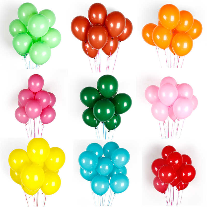 10 Pcs Rose Putih Hitam Pink Balon LaTeX Pesta Ulang Tahun Dekorasi Pernikahan Inflatable Balon Air Mainan Anak Baby Shower Ballon