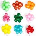 10 шт., латексные воздушные шары, розовые, белые, черные, розовые