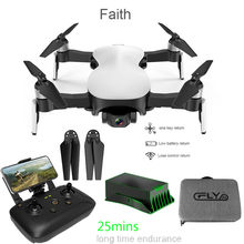 best selling 2019 products Faith GPS Drone 5G WiFi FPV 1080P HD Camera Brushless OpticalFlow RC Quadcopter for wearable devices(China)