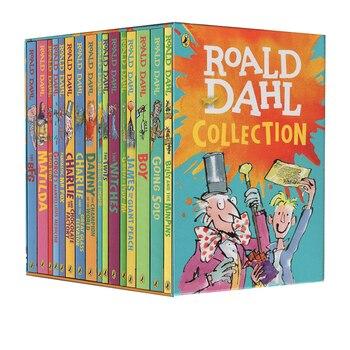 16 книг/набор, коллекция Roald Dahl, Детская литература, английская картина, новая история, набор книг, раннее обучение, чтение для детей