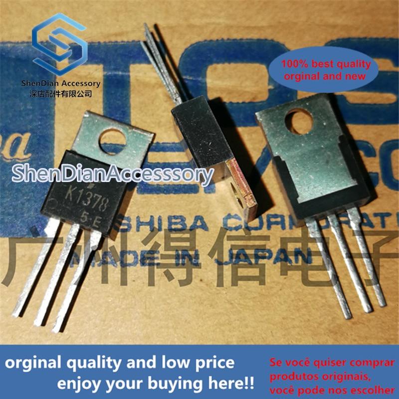 5pcs 100% Orginal New 2SK1378 K1378 MOSFET TO-220  Drain Current –ID=10A@ TC=25C Real Photo