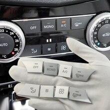 Cubierta de botones de volumen para coche, pegatinas decorativas para Mercedes Benz C E GLK Class W204 W212 X204, consola de aire acondicionado AC Media