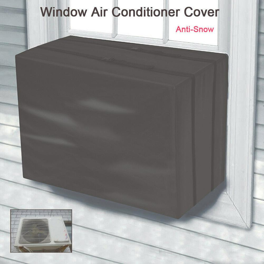 Window Air Conditioner Cover Waterproof Anti-Snow Outdoor Air Conditioner AC Window Unit Protective Cover Dust Clean Protector image