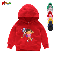 Girls Hoodies Kids Pure Cotton Hoodies & Sweatshirts Toddler Dora Explorer Hoodies Sweatshirts Kids White Toddler Dora Explorer dora the explorer little girls ballet dance pajama set