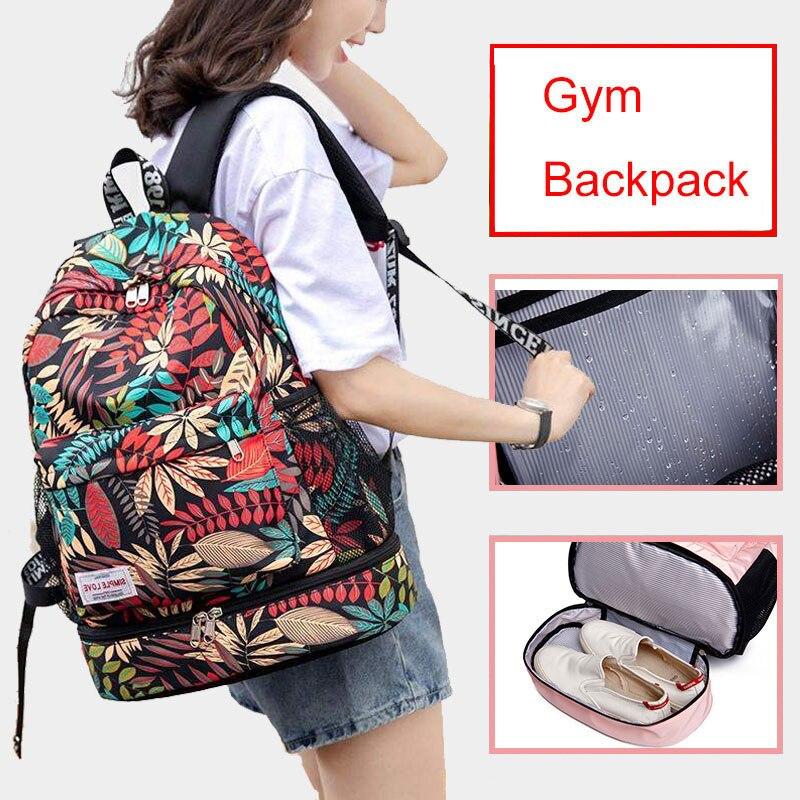 Kadın spor sırt çantası kuru ıslak spor çantası seyahat sırt çantası su geçirmez Mujer Sac De spor Gymtas yüzme kiti eğitim çantaları XA850WA