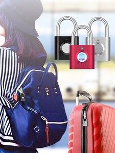 Image 3 - مصغر بدون مفتاح بصمة فتح مكافحة سرقة USB قفل الباب قفل لباب بصمة قفل خزانة خزانة قفل للدرج