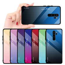 Gradien Tempered Glass Case untuk Xiaomi Redmi Note 8 7 5 6 Pro 7 7A Aurora Cover Redmi Note 7 8 5 7Pro 8Pro Pelindung Tritone(China)