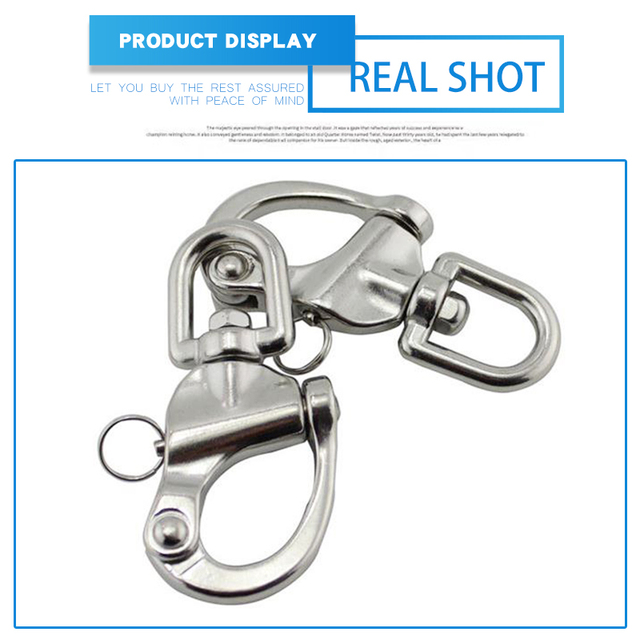 Stainless Steel Anchor Chain Shackle Snap Hook Swivel Jaw M6 Boat Hardware