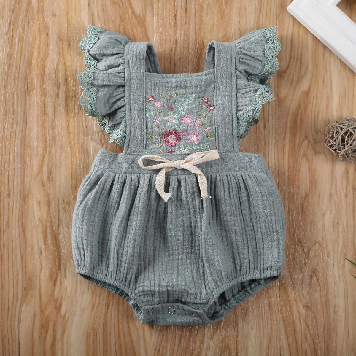 Pudcoco Newborn Baby Girl Clothes Flower Print Sleeveless Knitted Cotton Romper Jumpsuit One-Piece Outfit Sunsuit Clothes