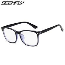 Glasses Women Computer Unisex-Eyewear Optical Blocking Seemfly Vintage Blue Black Light