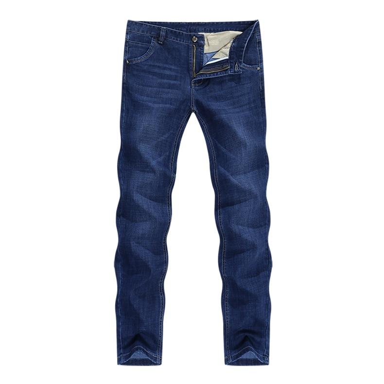 KSTUN Spring and Autumn Men Jeans Classic Straight Business Casual Blue Jeans Stretch Denim Pants Trousers Gentlemen Big Size 11