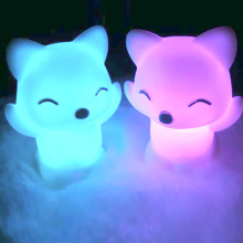 Newest Lovely Foxes Shape LED Night Light Lamp 7 Changing Colors Energy Saving Decorations