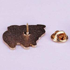 Забавная Милая мопса мультяшная эмалированная брошь на булавке значок отворот булавки сплав металл модные ювелирные изделия аксессуары Подарки